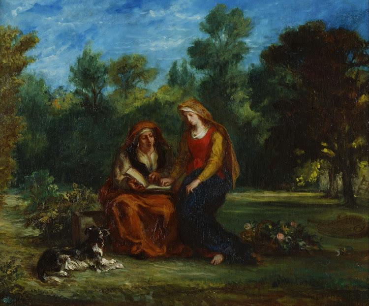 Eugène Delacroix - The Education of the Virgin