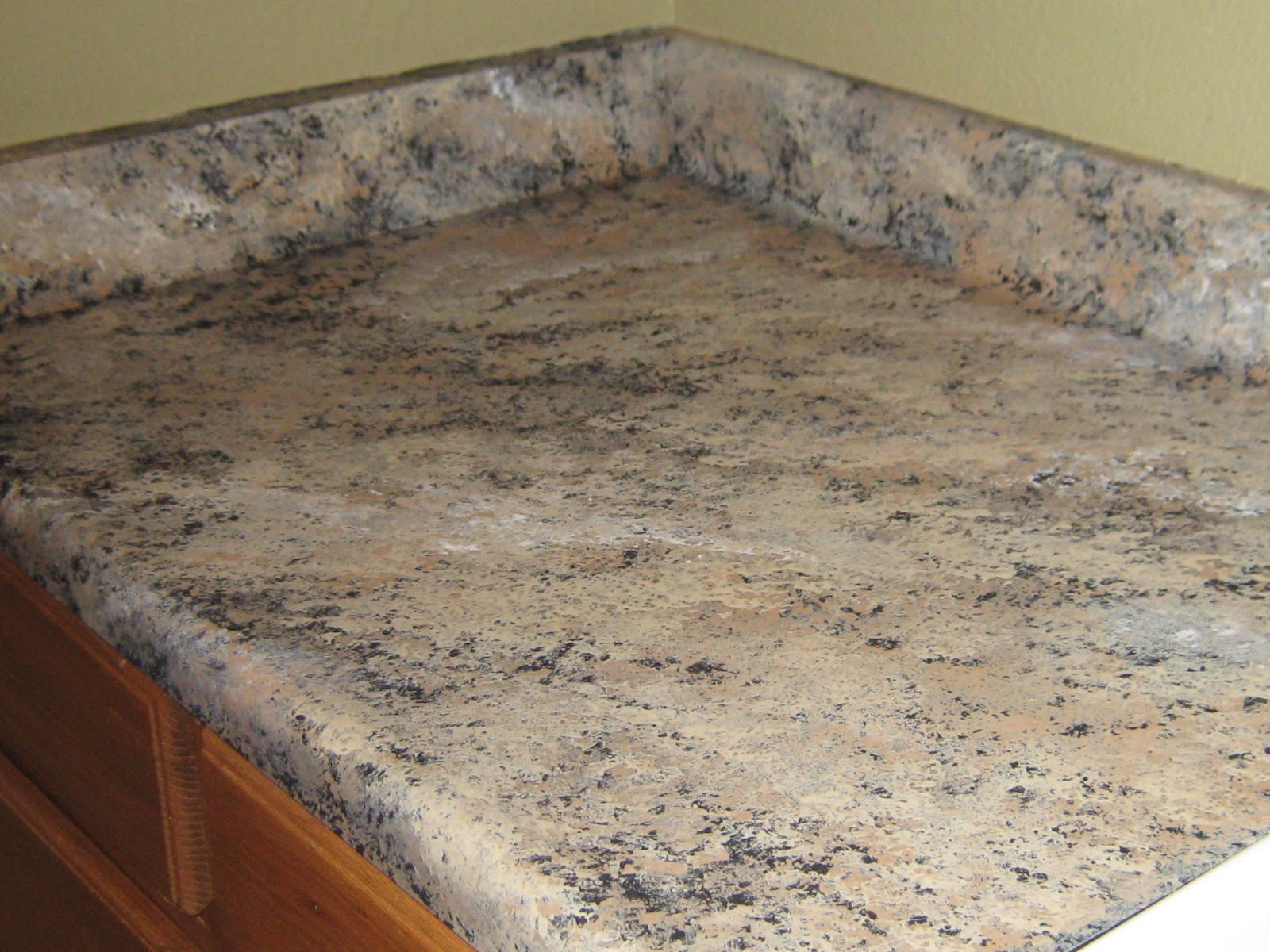 PAINTING FORMICA TO LOOK LIKE GRANITE (PART II)