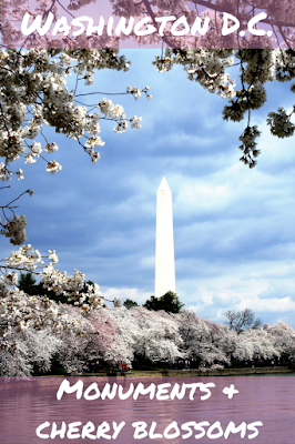 Travel the World: The monuments and memorials of the National Mall accentuated by the cherry blossoms of Washington D.C.
