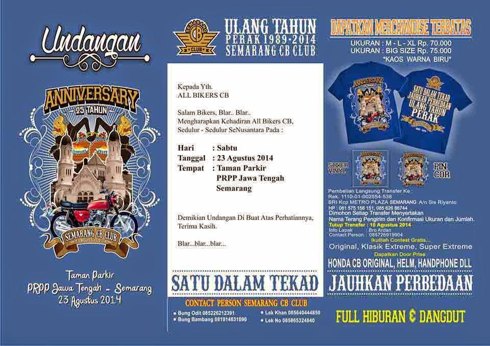 Acara Ulang Tahun Semarang CB CLUB