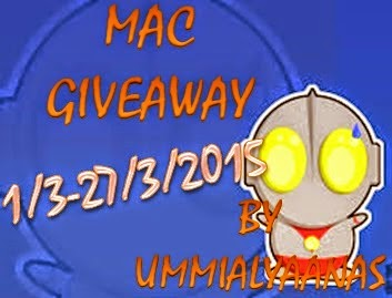 MAC GIVEAWAY by Ummialyaanas