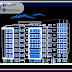 مخطط مشروع عمارة سكنية من عدة طوابق كاملا اوتوكاد dwg