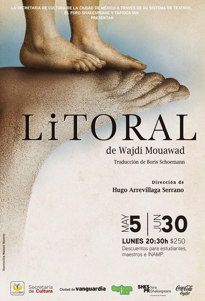 """Inicia temporada la obra """"Litoral"""" en el Foro Shakespeare"""