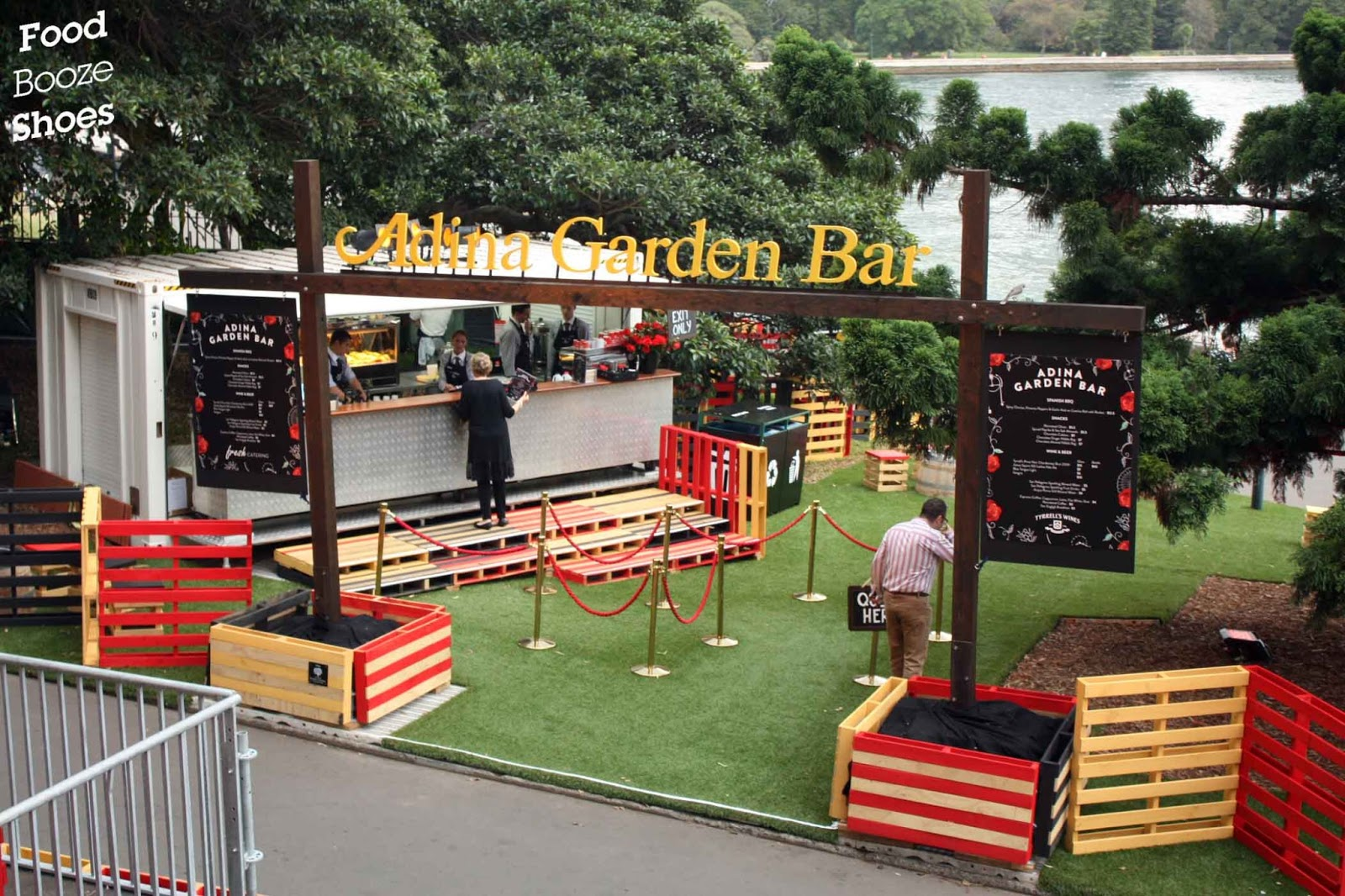 Food booze and shoes opera on sydney harbour carmen a for Food bar garden