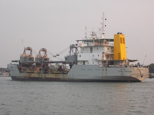 Dredger Ship in Kochi Harbour.