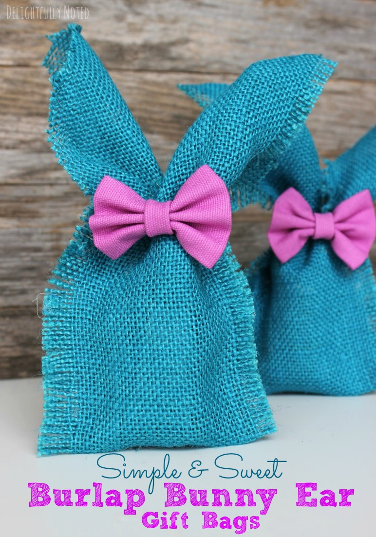 No Sew Bunny Ear Easter Treat Bags