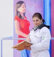 La artista-The artist Conchi Alvarez.