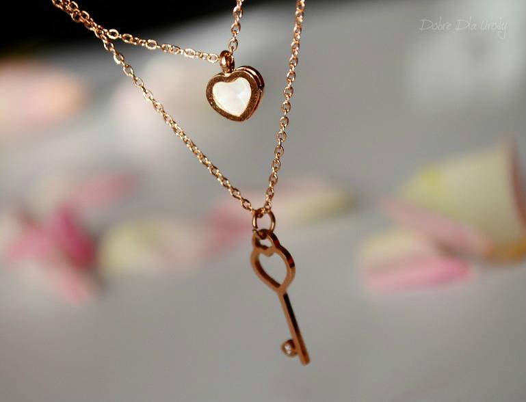 Happiness Boutique - naszyjnik kluczyk i serce