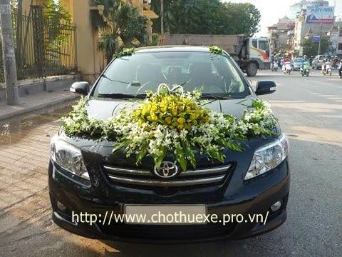 Cho thuê xe cưới giá rẻ Toyota Altis ở Hà Nội 1