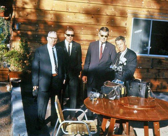 With SA Muggsy O'Leary, SA Gerald Blaine, and White House Photographer Cecil Stoughton