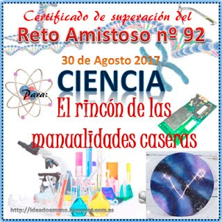 Certificado Reto Amistoso Nº92. Ciencia