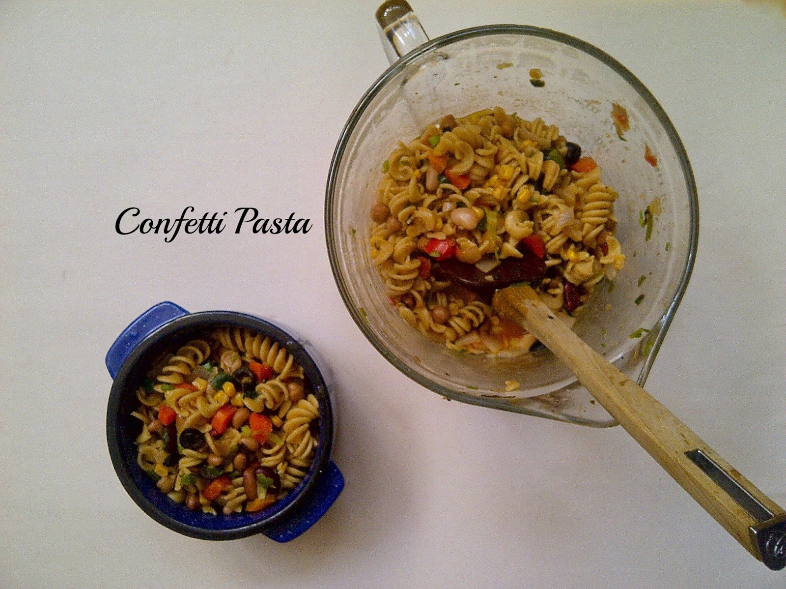 Confetti Pasta **swap the whole wheat for a GF pasta**