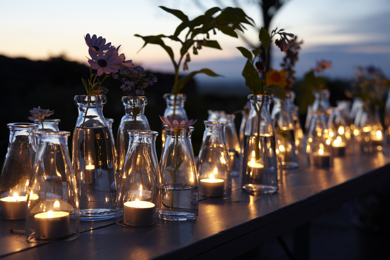 Life of a Vintage Lover Milk Jar Centerpieces
