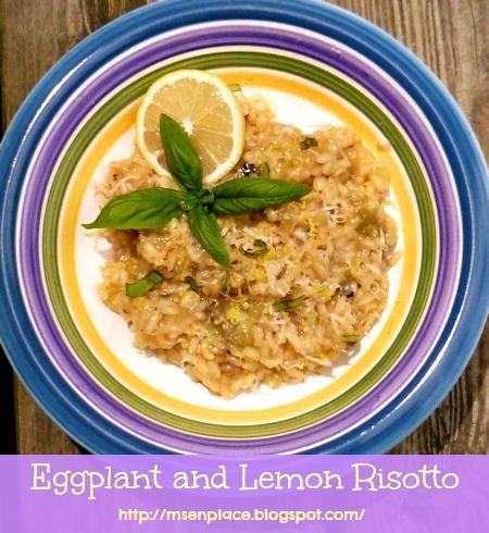 ... enPlace: Eggplant: Hate-Love Relationship {Eggplant and Lemon Risotto