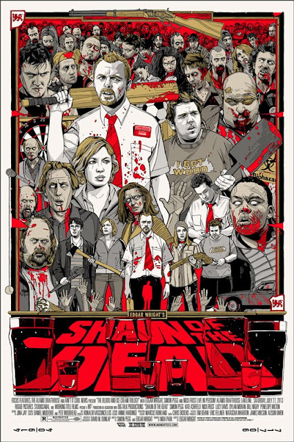 Shaun of the Dead Standard Edition Screen Print by Tyler Stout