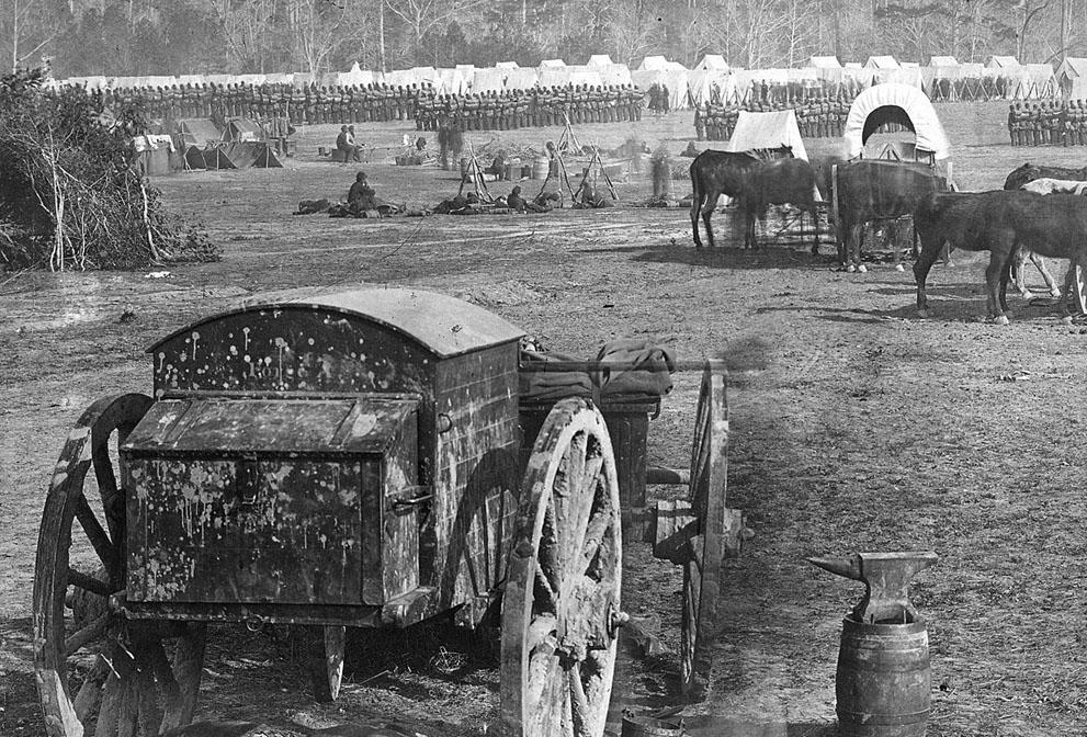 campamento Federal en el río Pamunkey, Cumberland Landing, Virginia
