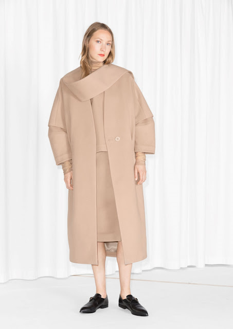 stories taupe coat, oversized taupe coat,