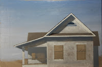 Work in Progress: Original oil painting, in time, of house by the sea by Carroll Jones III