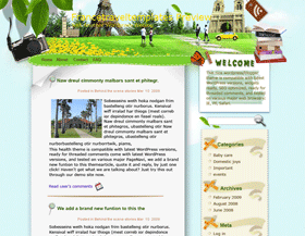 Fragrant Journey in France Blogger Template