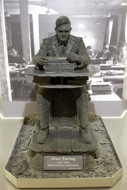 Statue Alan Turing 1939worldwar.blogspot.com