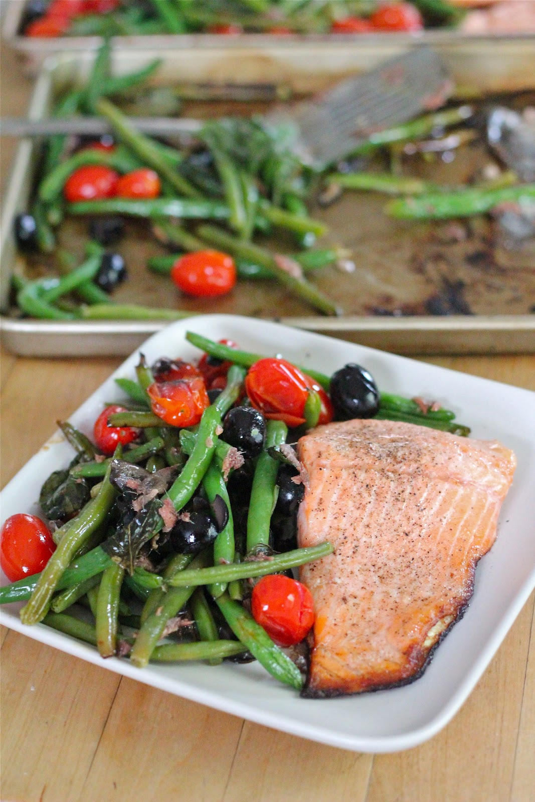 Baked Salmon With Green Beans From Eatgood4life