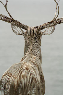 deer sculpture by the sea