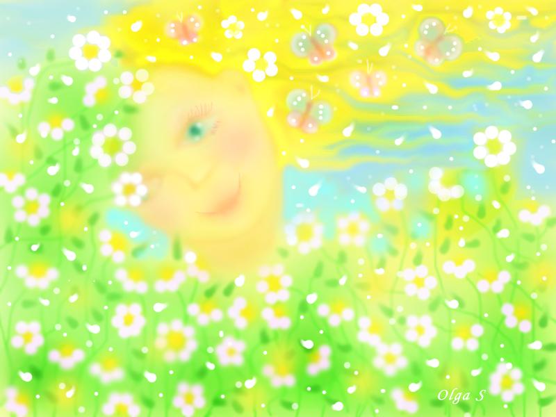 лето, сказка, цветы