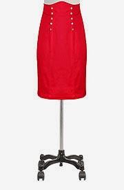High waisted gold button skirt