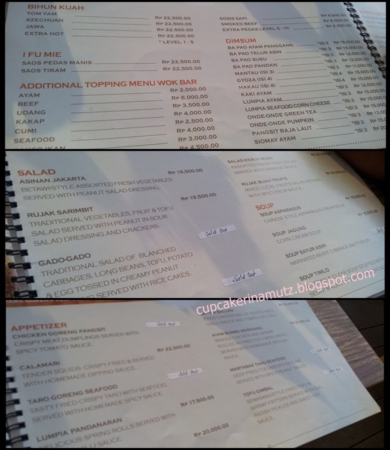 Kuliner jogja madam tan wok bar rina chabbymutz for Z kitchen jogja menu