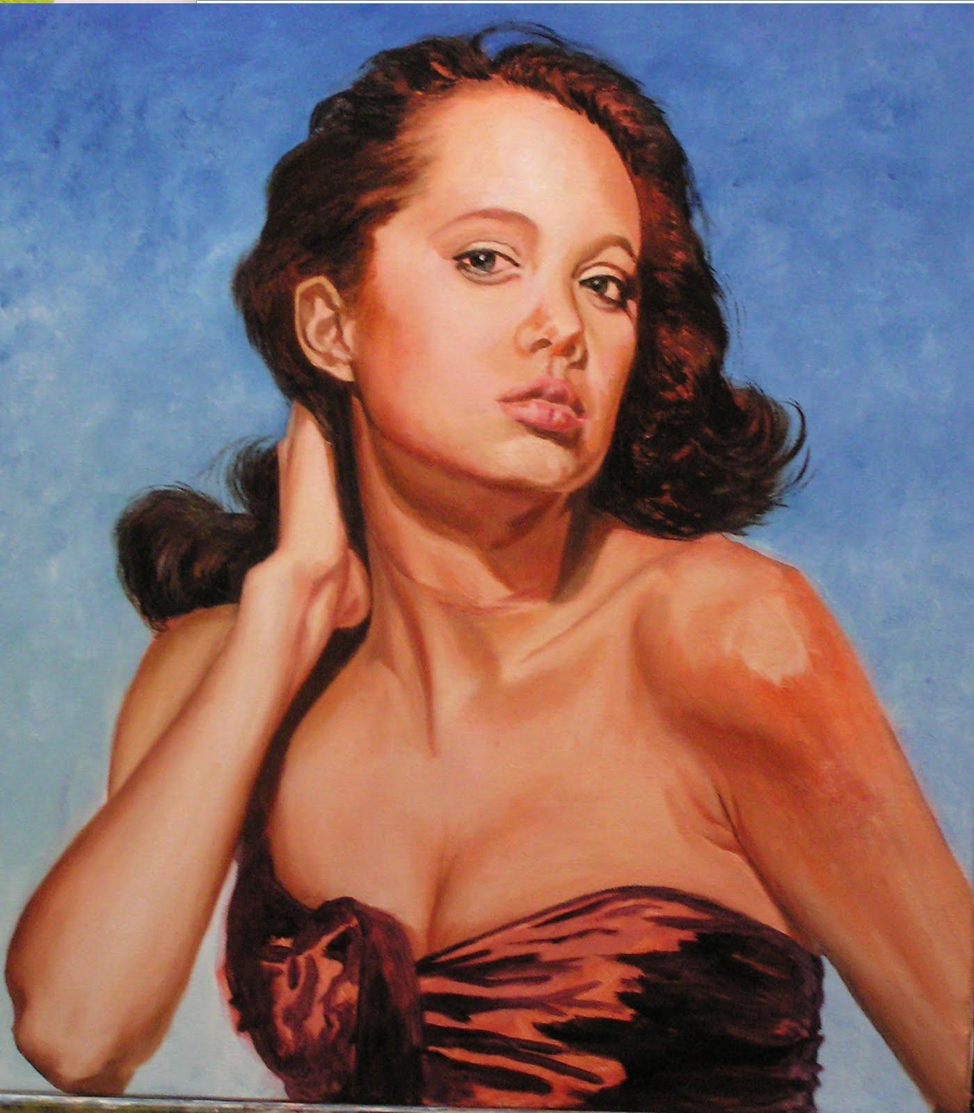 Amando oleo sobre lienzo retrato paso a paso - Retrato oleo paso a paso ...