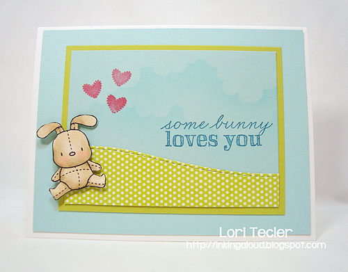 Some Bunny Loves You-designed by Lori Tecler-Inking Aloud-stamps and dies from Mama Elephant
