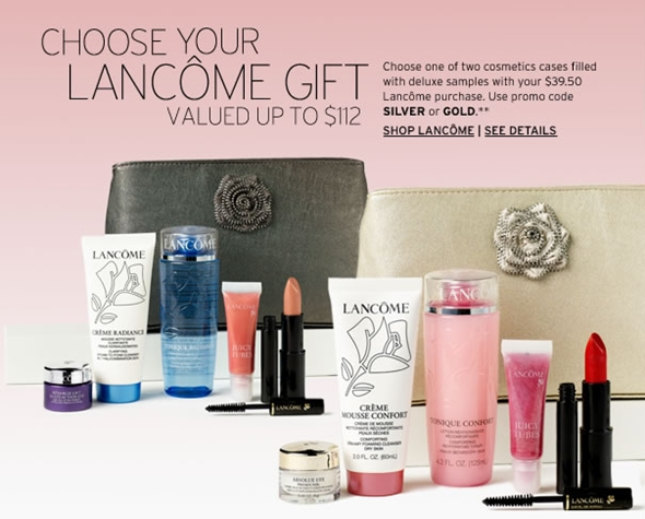Cotton Candy Blog: Lancôme FREE $112 Value Gift with Purchase ...
