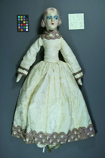boudoir doll repair restoration, professional art conservation by conservator Gwen Spicer