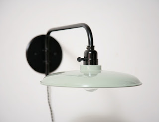A Minty Green Lamp from Amsterdam Modern by Julie Carlson