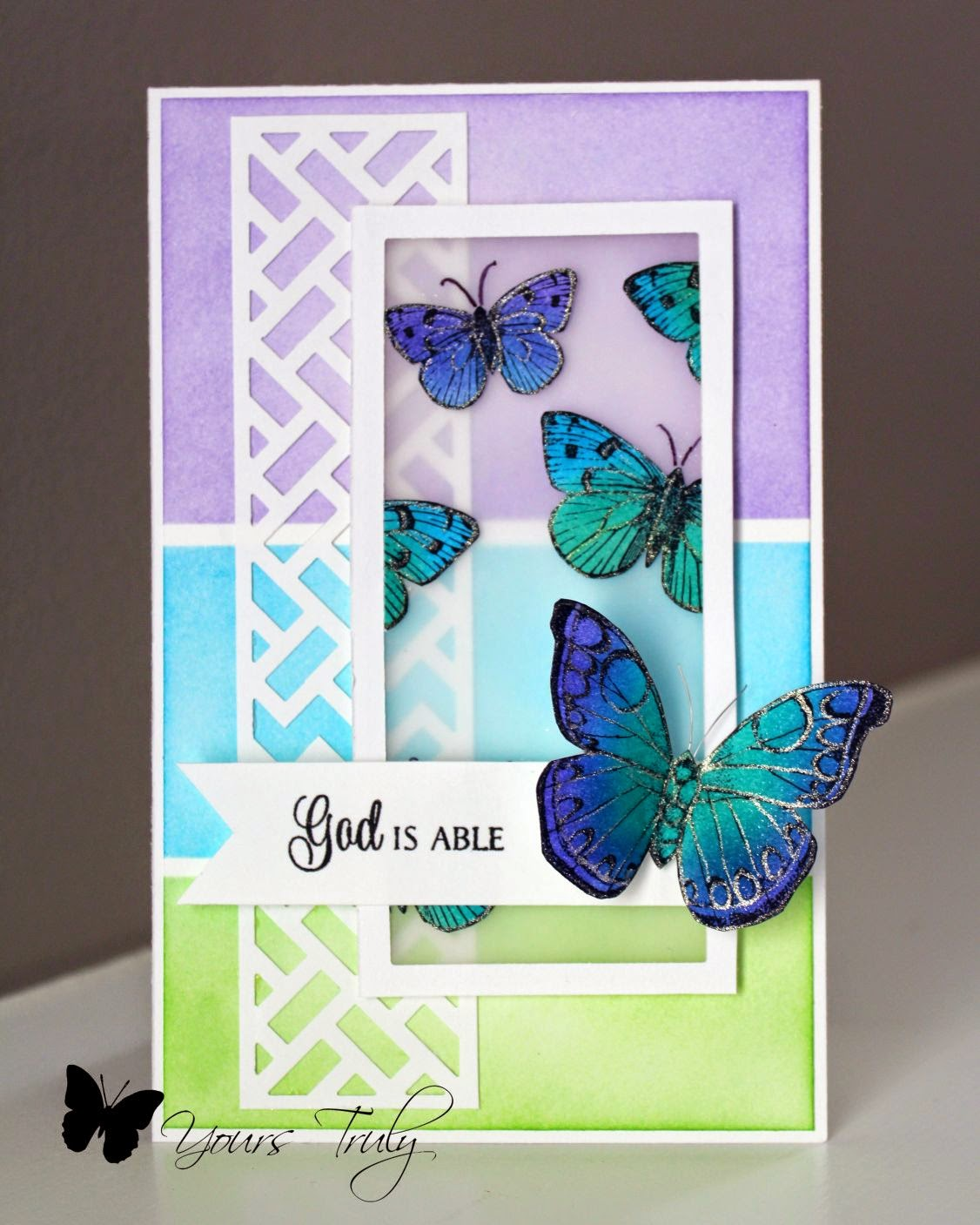 Diana Nguyen, Hero Arts, Verve, butterflies, card
