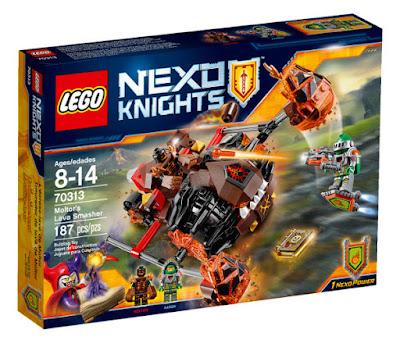 TOYS : JUGUETES - LEGO Nexo Knights  70313 Lanzador de lava de Moltor | Moltor's Lava Smasher  Producto Oficial 2015 - 2016 | Piezas: 187 | Edad: 8-14 años  Comprar en Amazon España & buy Amazon USA