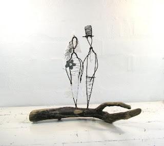 Wire Sculpture Wedding Gift  by Idestudiet