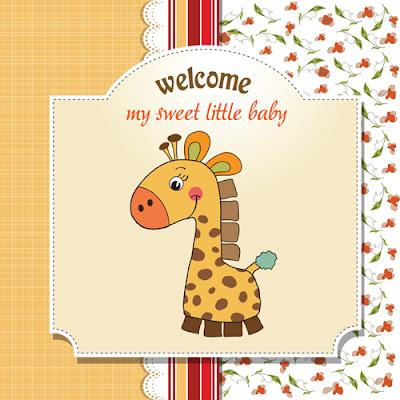 Cute Kid card design vector
