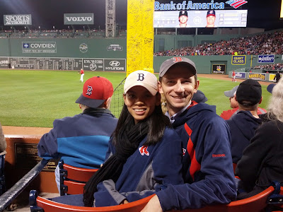 Sitting by Pesky's Pole at Fenway Park in Boston, MA - Photo by Taste As You Go