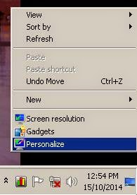 personalize of windows desktop