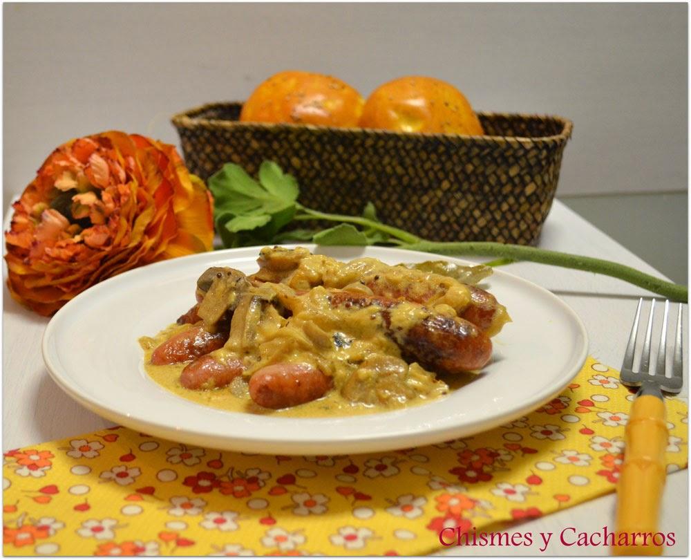 Chismes y cacharros salchichas frescas de pollo con salsa - Salchichas frescas en salsa ...