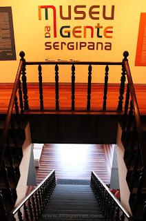 Escadaria interna do Museu da Gente Sergipana, em Aracaju - Sergipe
