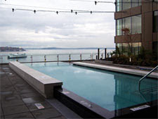 The pool at Four Seasons Hotel Seattle