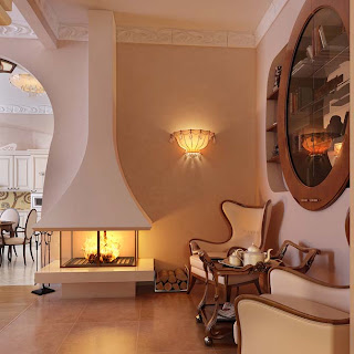 Luxury Living Room Fireplace Design