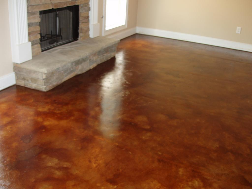 Acid stain interior concrete floors 2017 2018 best for Stained concrete floors