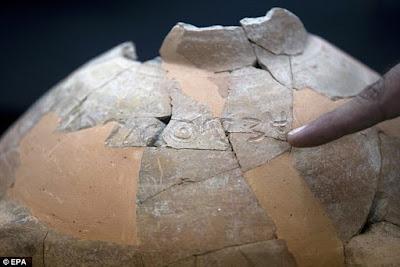 Jarro de 3.000 anos é encontrado com inscrição da era do rei Davi
