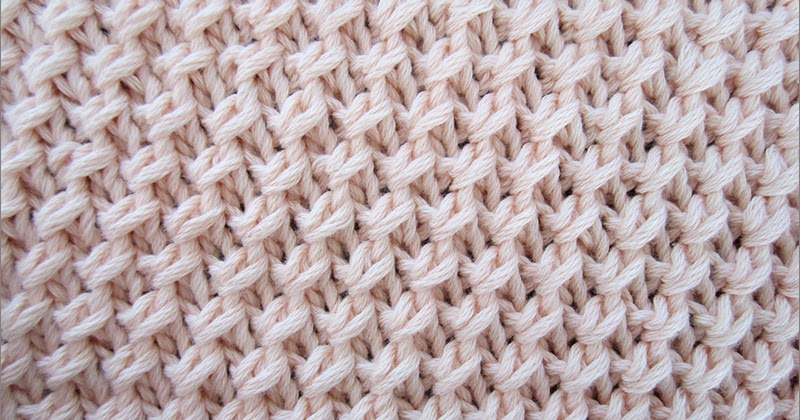 Cross Knit Loop Stitch : Diagonal Fixed Loop Stitch - Knitting Unlimited