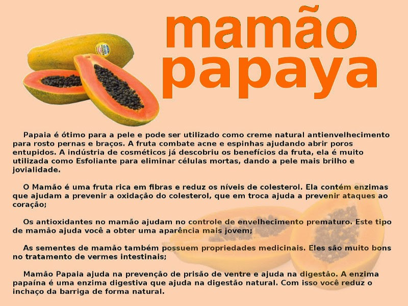 beneficios do mamão papaya