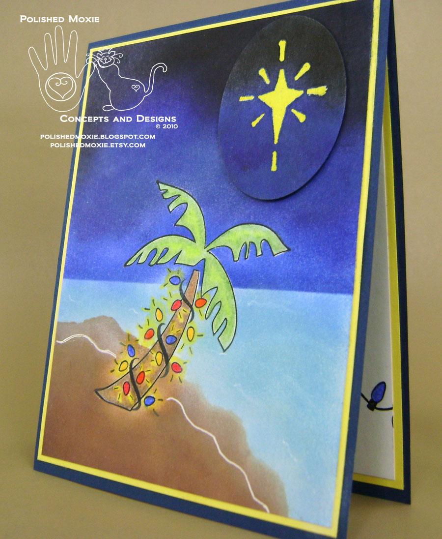 Handmade Palm Tree Christmas Card and Its Inspiration   Polished ...