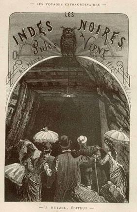 Portada original de Las Indias Negras de Julio Verne